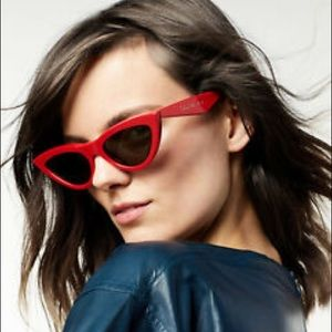 Celine CL40019I Women's Cat-Eye Sunglasses in red